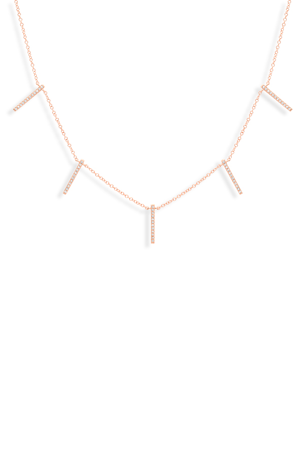 Do Not Disturb - The Shanghai Necklace (14k Rose Gold And Diamonds)