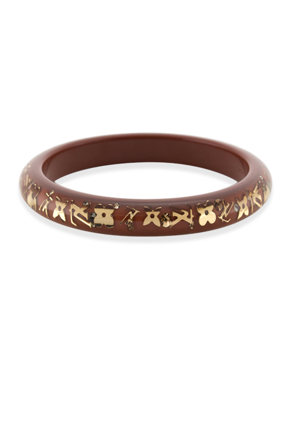 Louis Vuitton - Narrow Inclusion Bangle (Light Brown/Gold)