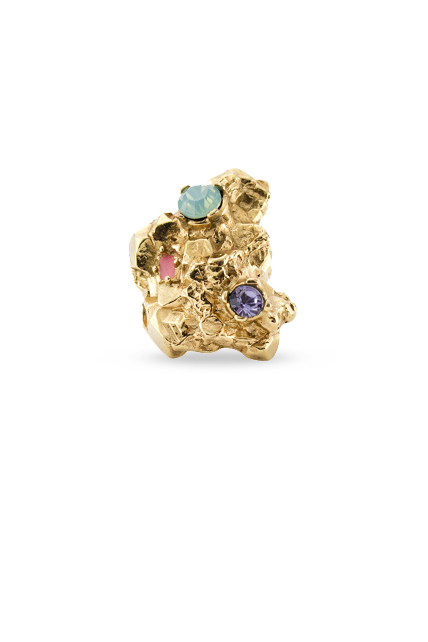 Yves Saint Laurent - Arty Too Ring (Multi Stone) - Size 6.5