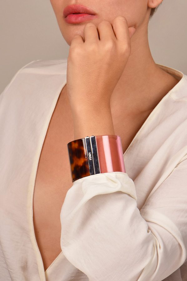 Fendi - Tortoise & Pink Bangle