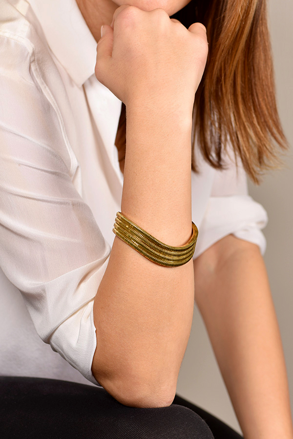 Lara Bohinc - Mini Galaxy Bangle Brass
