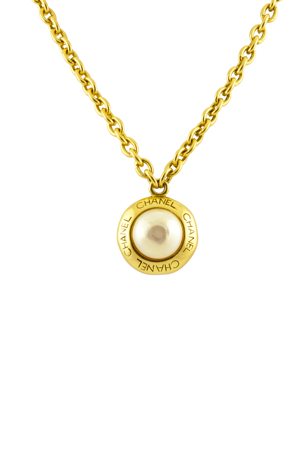 Chanel - 1030999885_Switch Jewelry Chanel Vintage Faux Pearl Disc Pendant Necklace jpg