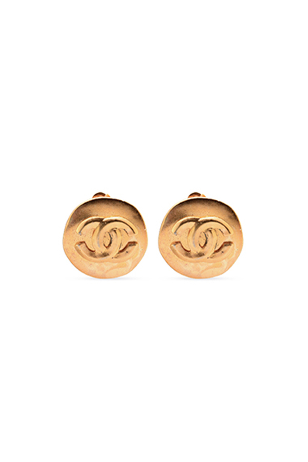Chanel - Vintage CC Logos Button Earrings - Medium