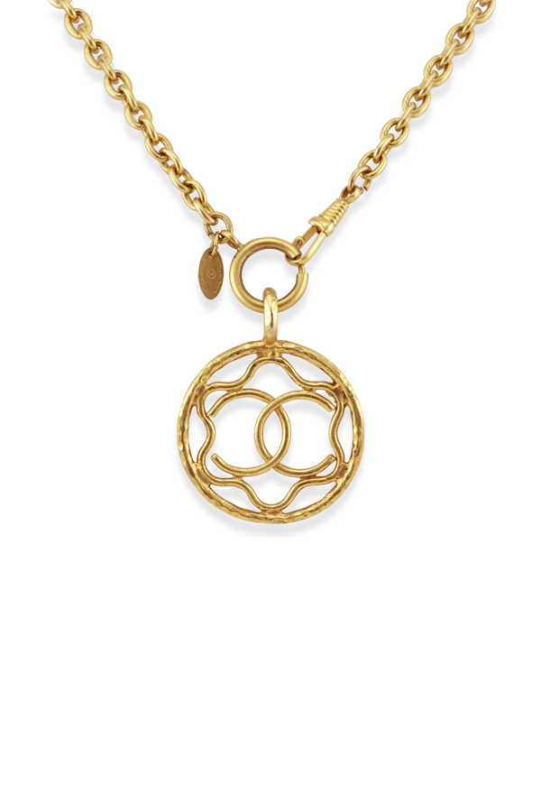 Chanel - Vintage Cut Out Medallion Necklace