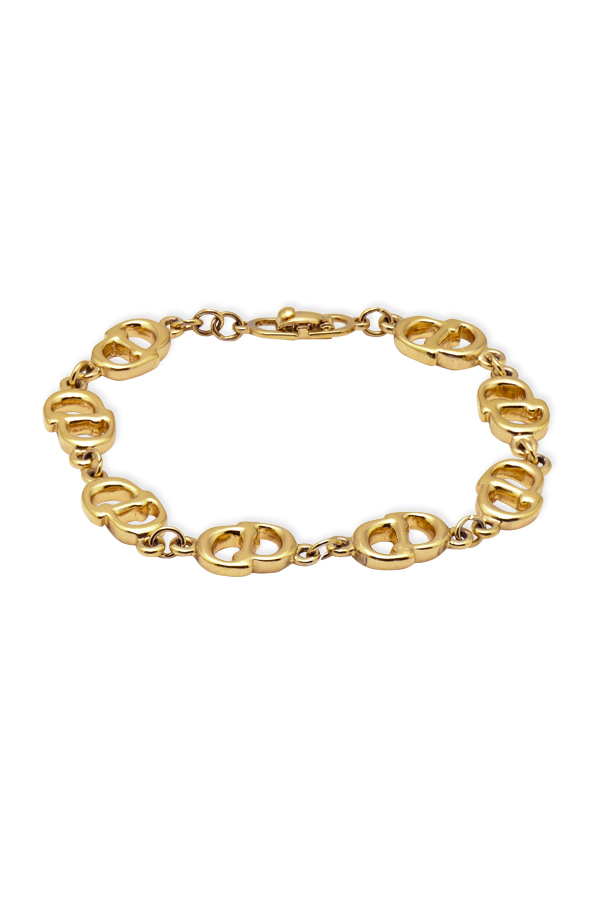 Christian Dior - Vintage Logos Gold Chain Bracelet View 1