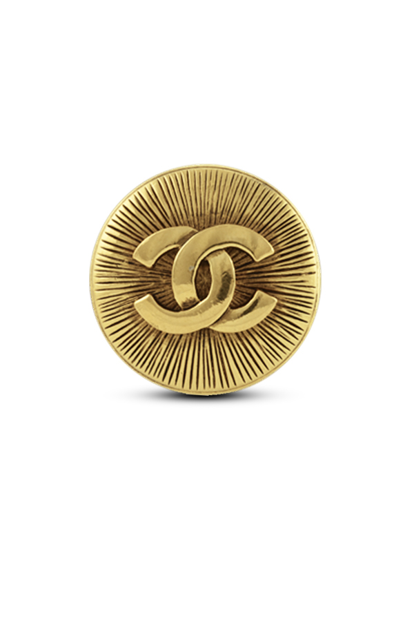 Chanel - Vintage Gold CC Brooch