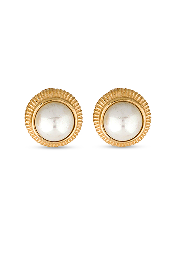 Christian Dior - Textured Faux Pearl Earrings