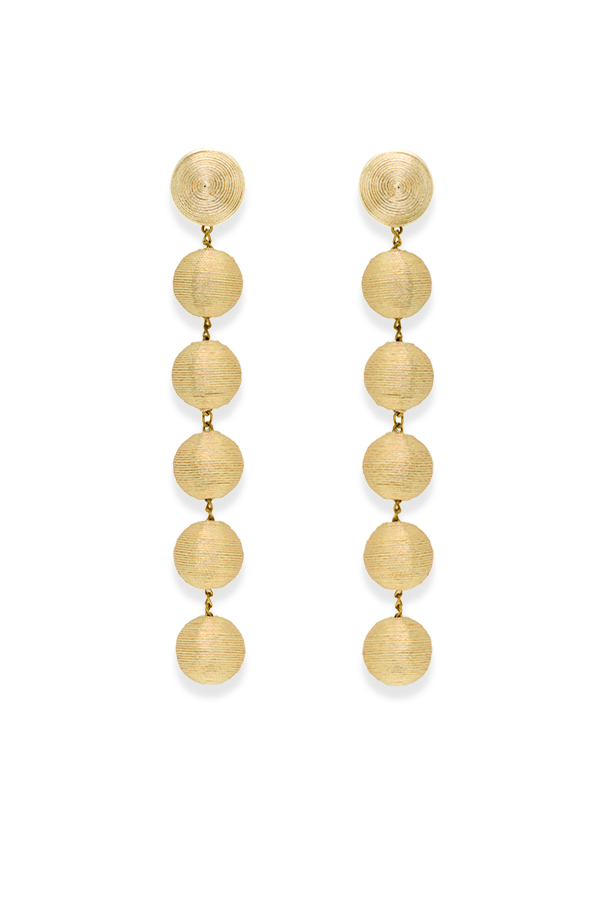 Rebecca De Ravenel - 1060501654_Switch Jewelry Rebecca De Ravenel The Shimmy Six Drop Skinny Earrings  Gold  2 jpg