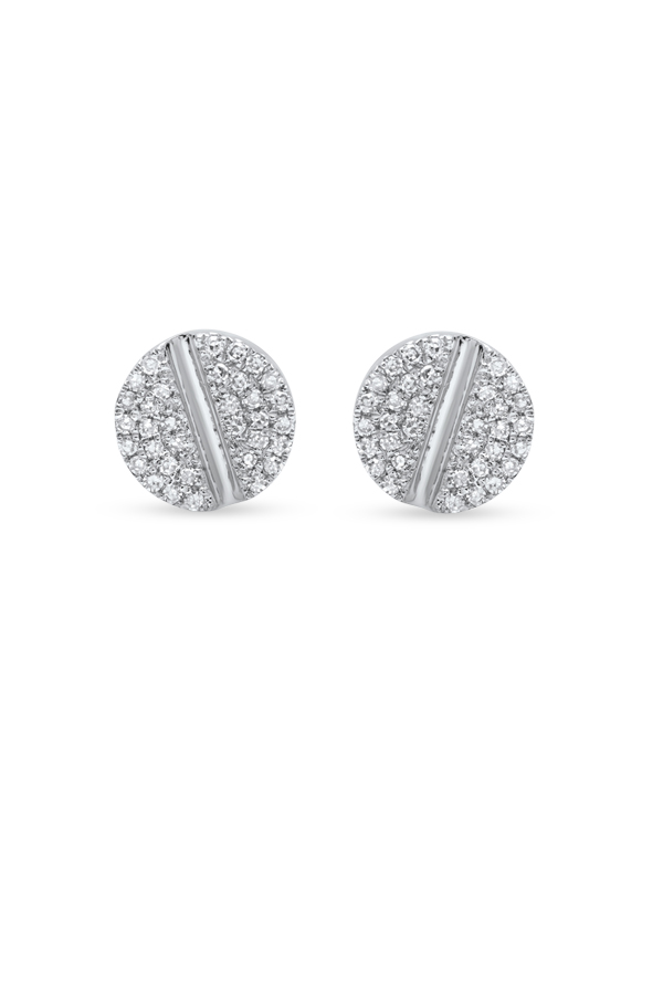 Do Not Disturb - The Tokyo Studs (14k White Gold and Diamonds)
