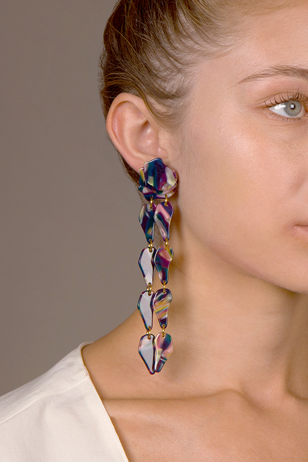Lele Sadoughi - Wisteria Earrings (Twilight)