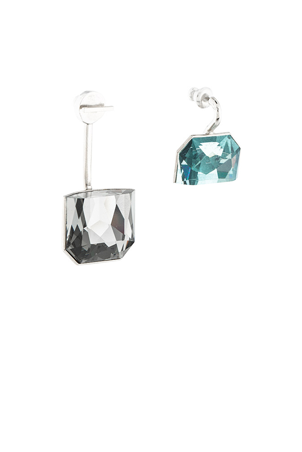 Christian Dior - Dual Colored Crystal Set Earrings