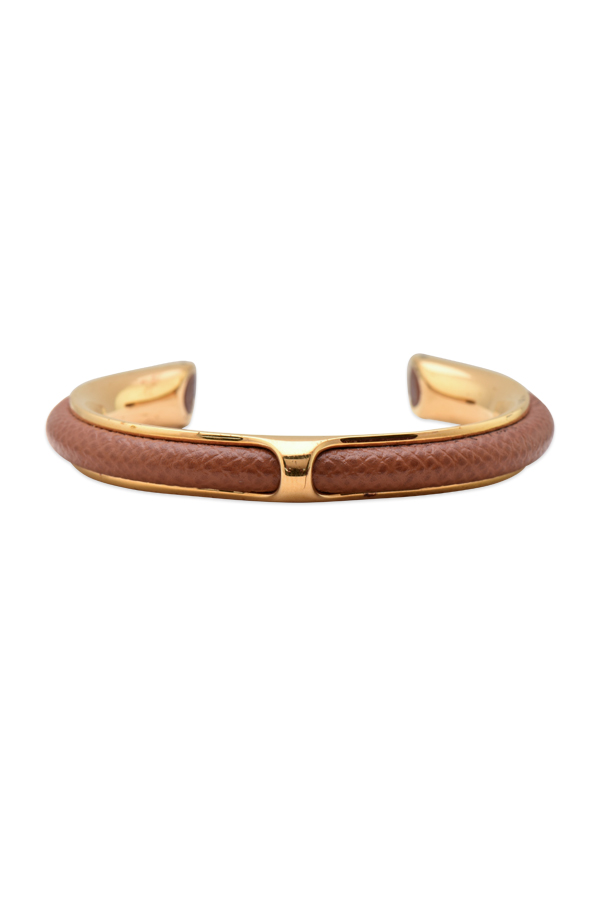 Hermes - Leather Cuff (Brown/Gold)