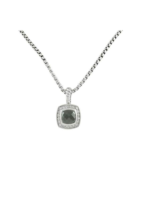 David Yurman - Albion Pendant Necklace With Diamonds (Hematine)