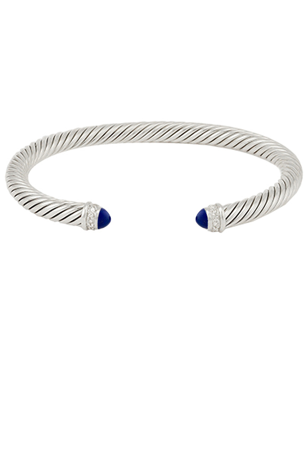 David Yurman - 5 mm Cable Classic Bracelet (Lapis Lazuli)