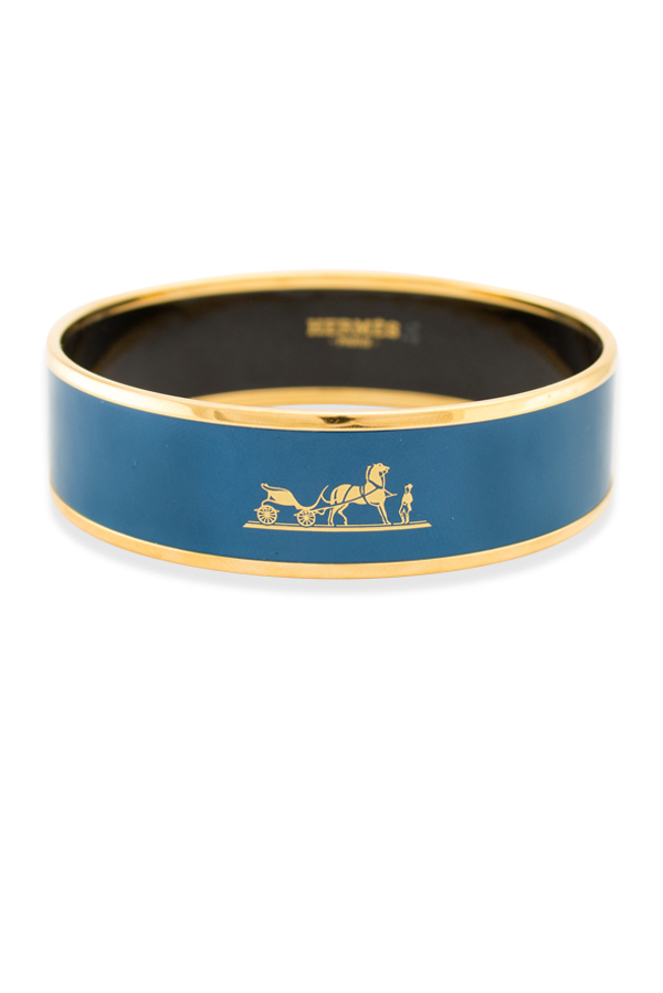 Hermes - Caleche Bracelet (Blue Profound/Yellow Gold Plated)