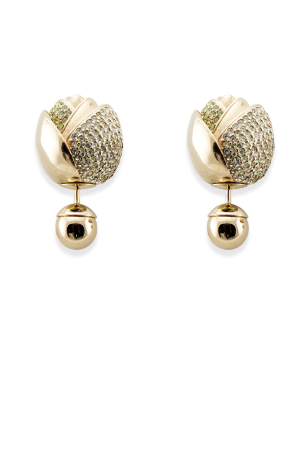 Christian Dior - Blossom Tribale Earrings (Yellow Gold/Green)