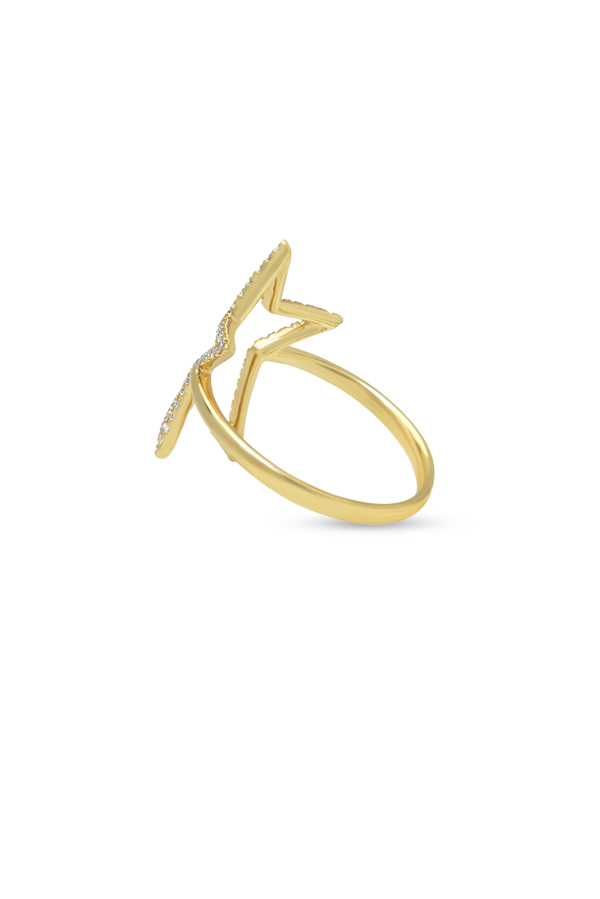 Do Not Disturb - The Sahara Ring (14k Yellow Gold and Diamonds) - Size 6