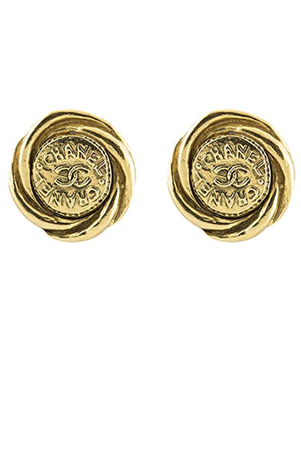 Chanel - CC Woven Logos Clip-On Earrings
