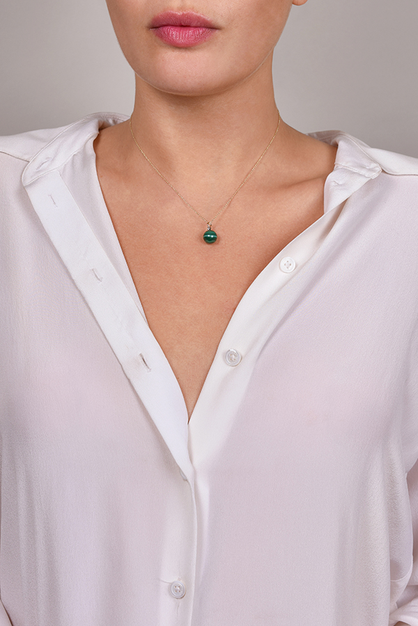 Mateo - Malachite and Diamond Necklace