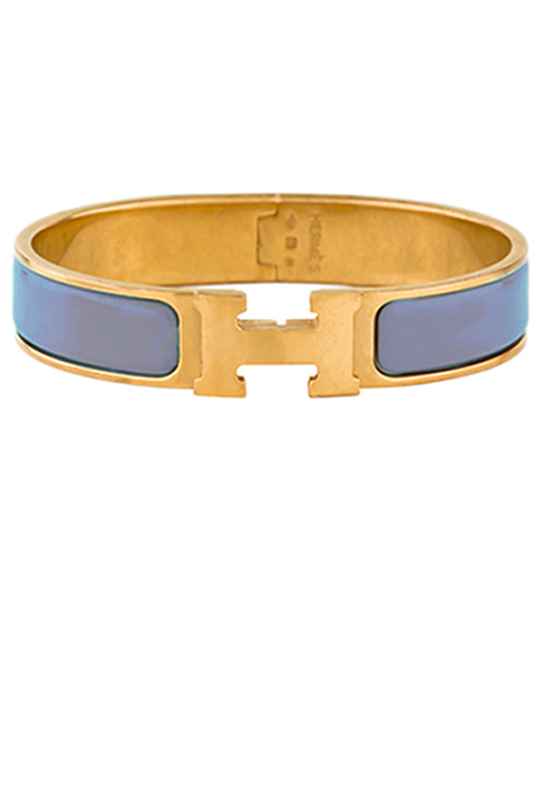 Hermes - Narrow Clic H Bracelet (Light Purple/Yellow Gold Plated) - PM