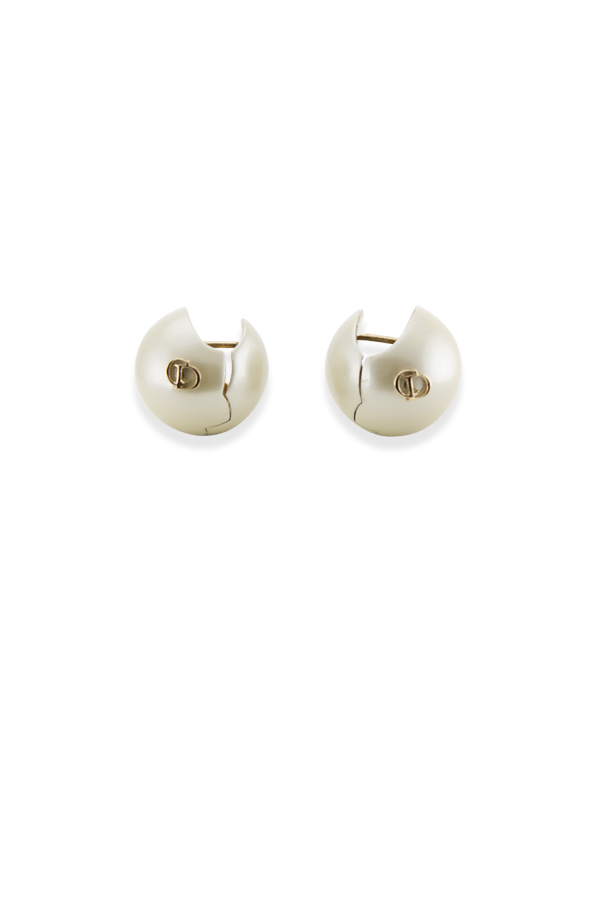Christian Dior - Sphere Logo Huggie Earrings