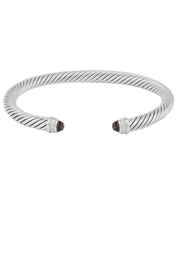 David Yurman - 5mm Cable Bracelet  Smoky Quartz  View 1