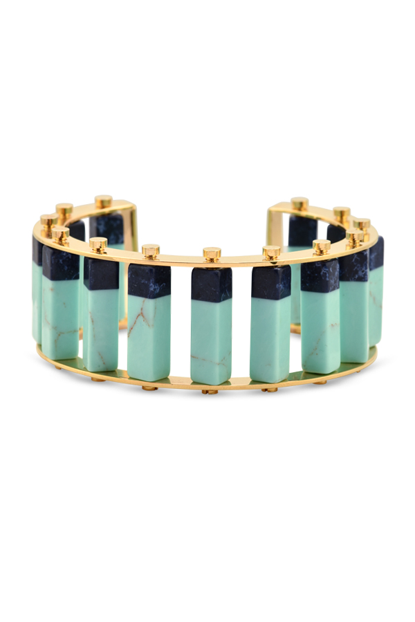 Lele Sadoughi - Turquoise and Dark Blue Stackable Cuff