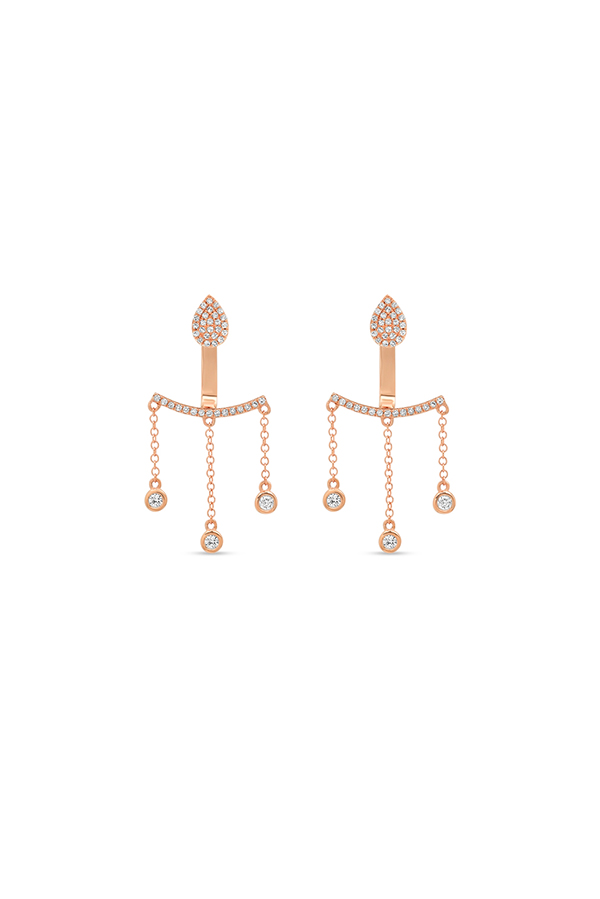 Do Not Disturb - The Edinburgh Ear Jackets (14k Rose Gold and Diamond)