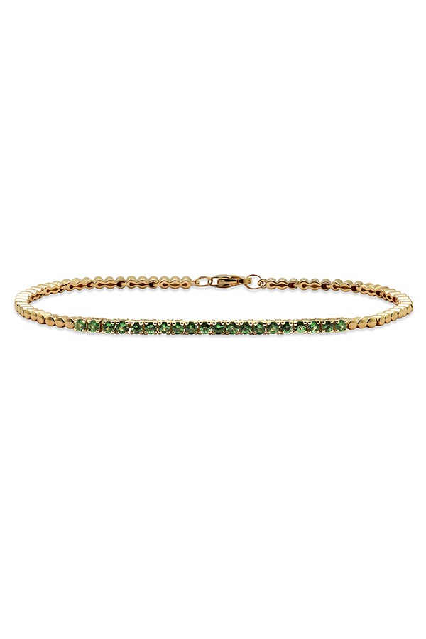 Do Not Disturb - The Toulouse Tennis Bracelet  14k Yellow Gold  amp  Tsavorite    S View 1