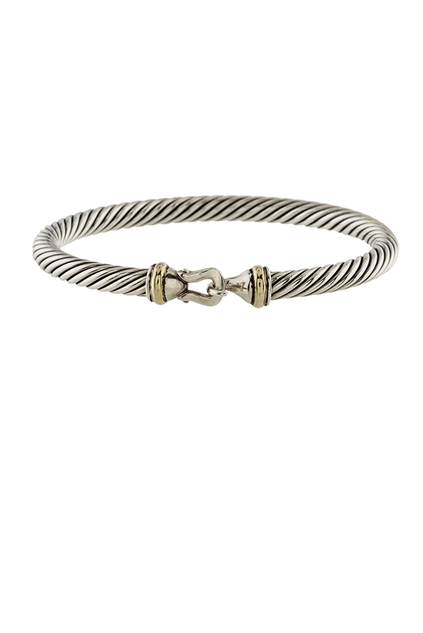 David Yurman - 5 mm Cable Buckle Bracelet (18k Gold)