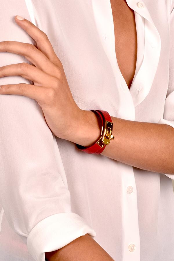 d6793418611 Hermes - Kelly Double Tour Leather Bracelet