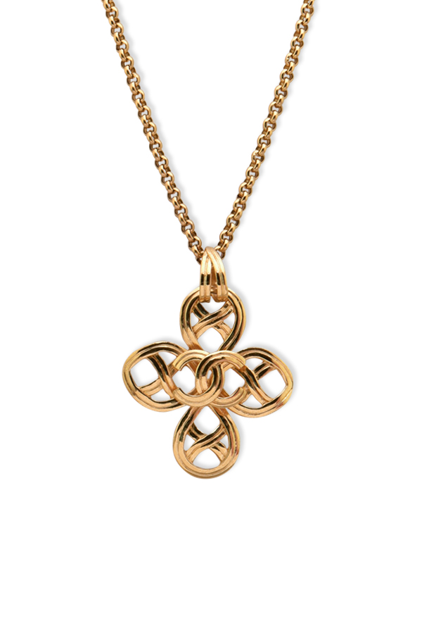 Chanel - Vintage CC Logo Cutout Clover Necklace