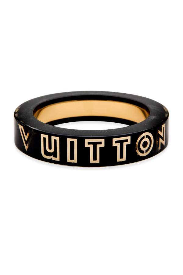 Louis Vuitton - Black Resin Logo Bangle