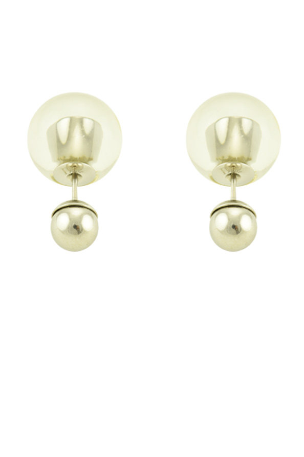 Christian Dior - Mise En Dior Tribale Earrings (Clear/Silver Tone)