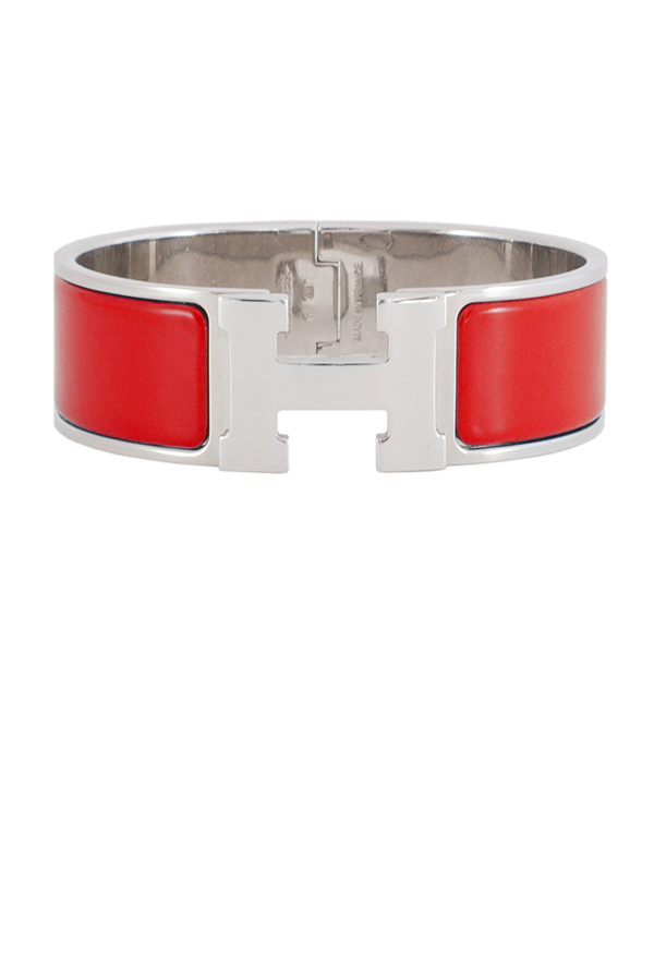 Hermes - Wide Clic H Bracelet (Red/Palladium Plated) - PM