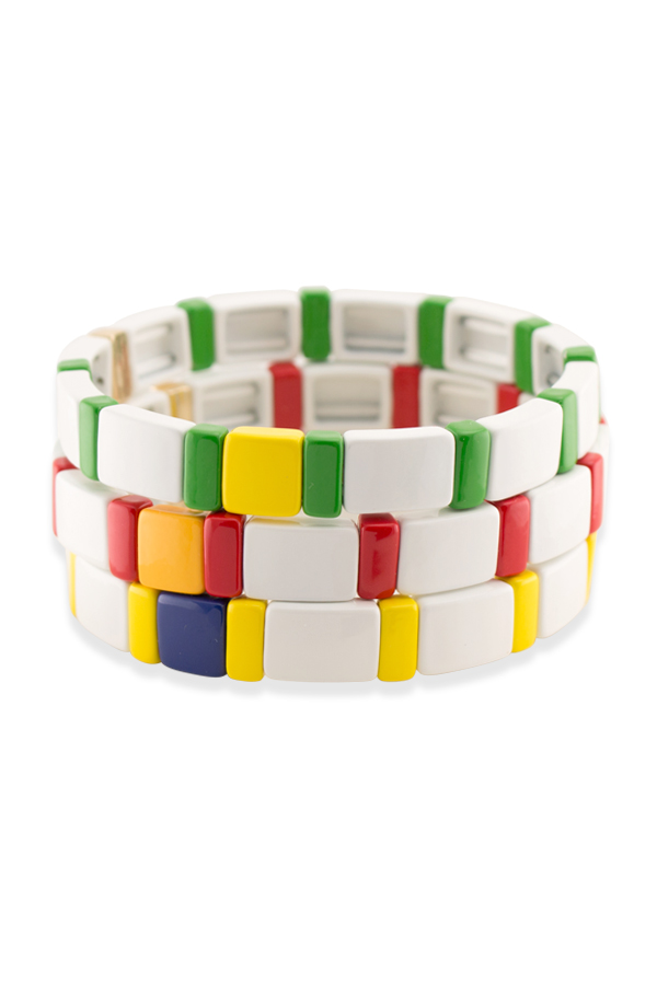 Roxanne Assoulin - Breton Block Bracelet - Set of Three