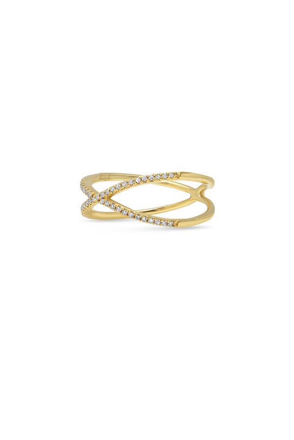 Do Not Disturb - The Grenada Ring (14k Yellow Gold and Diamonds) - Size 7