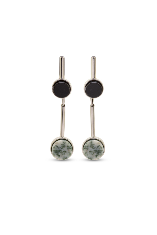 Christian Dior - Moss Agate & Stone Drop Earrings