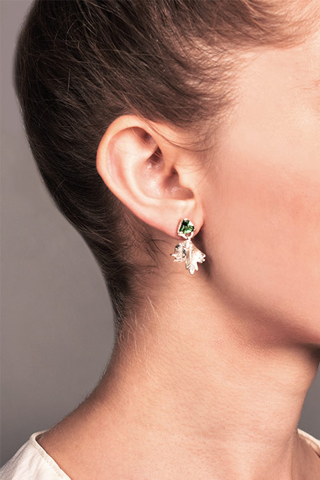 Coline Assade - Detachable Leaves Earrings View 3