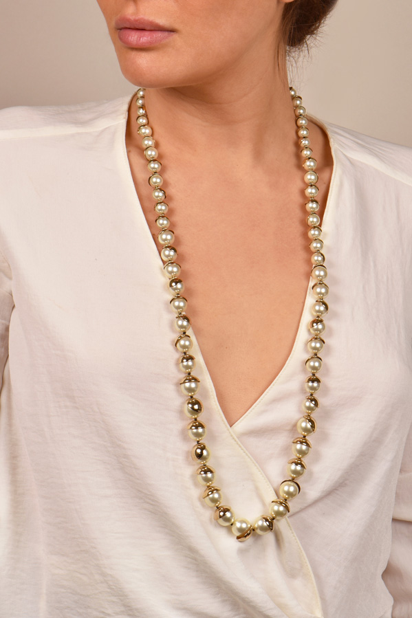 Christian Dior - Faux Pearl Mise en Dior Necklace
