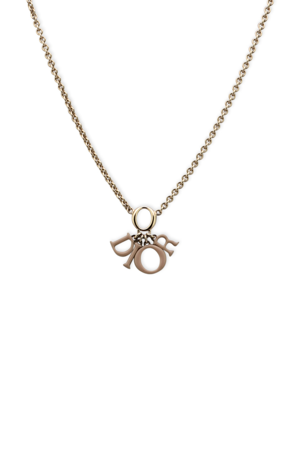 Christian Dior - Beige Spellout Necklace