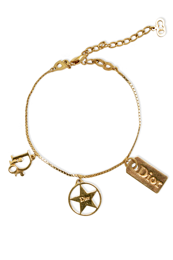 Christian Dior - Tag and Star Charm Bracelet