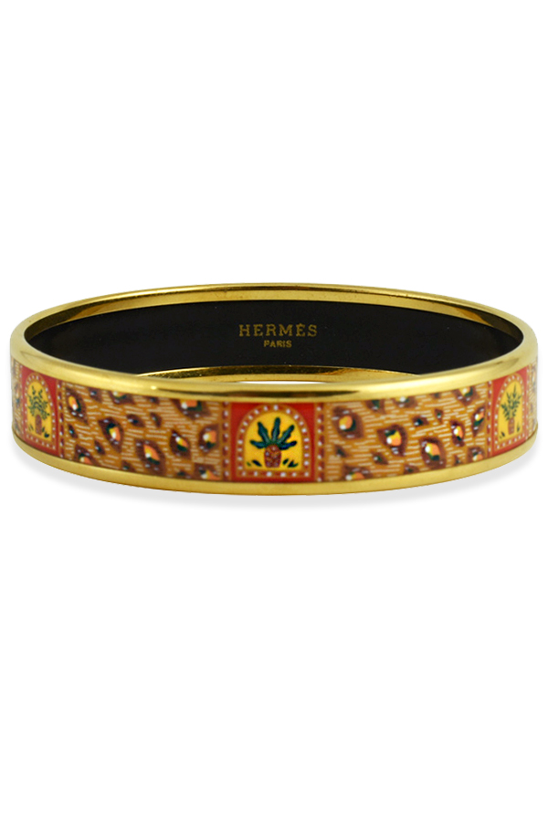 Hermes - 1231421433_1300624885_Switch Jewelry Hermes Thin Printed Enamel Bracelet copy jpg