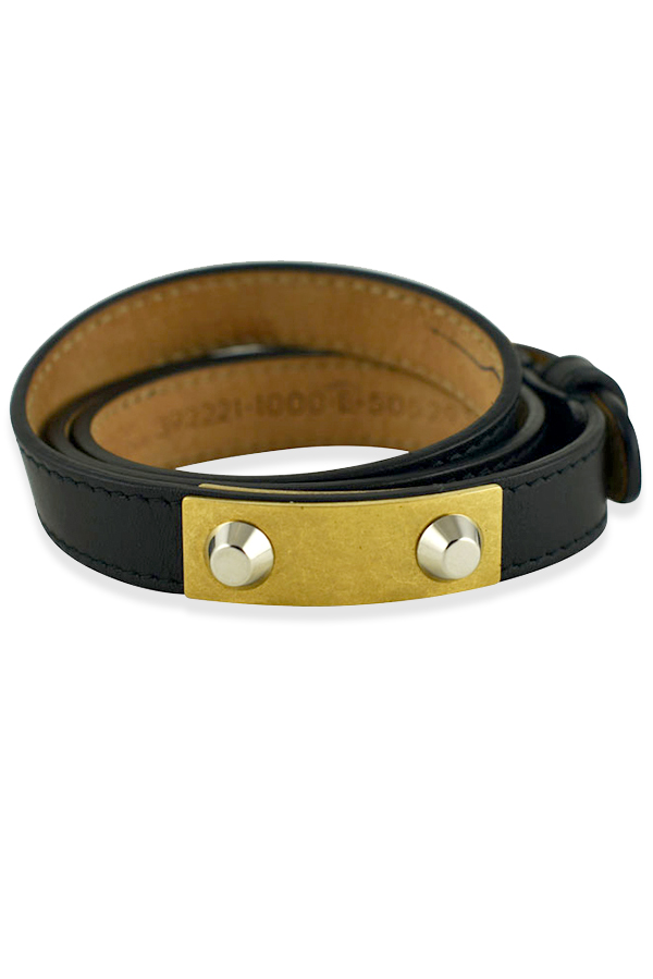 Balenciaga - Double Wrap Studded Bracelet View 1