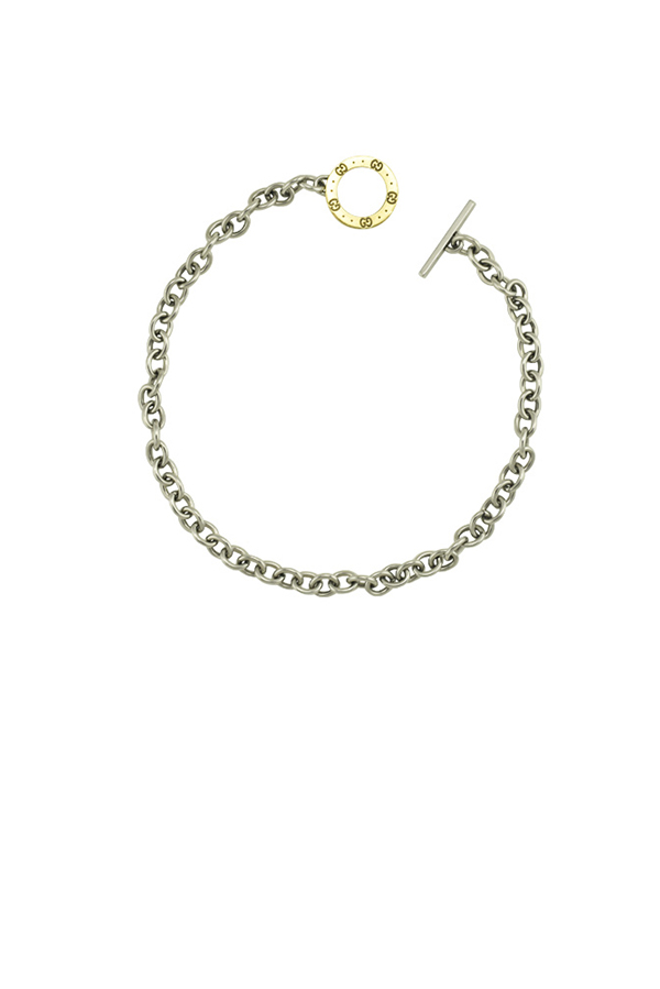 Gucci - Silver Monogram Chain Choker  View 1