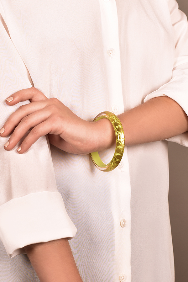 Christian Dior - Neon Lucite Bangle