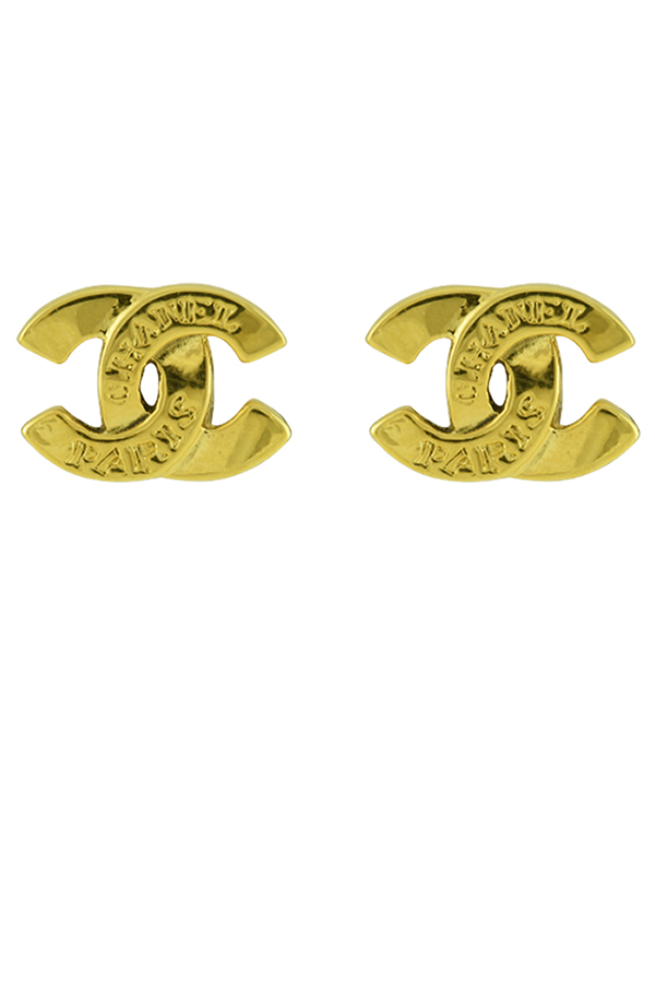 Chanel - Small Vintage CC Logo Clip Ons