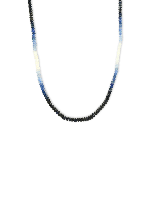 Do Not Disturb - The Lima Necklace (Diamond and Sapphire)