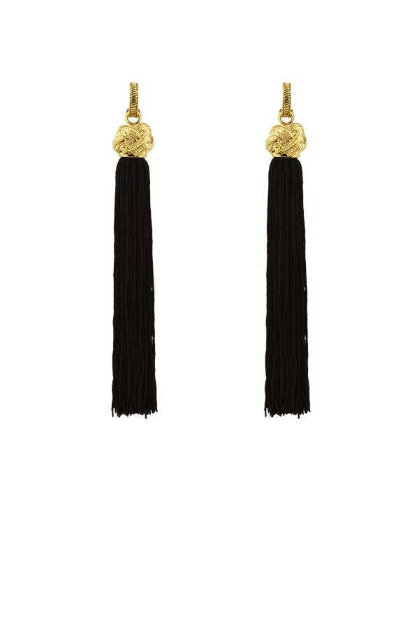 Yves Saint Laurent - Loulou Tassel Clip On Earrings