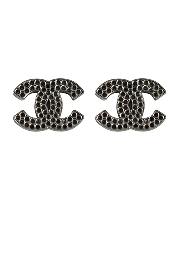Chanel - Vintage CC Logos Silver Clip-On Earrings